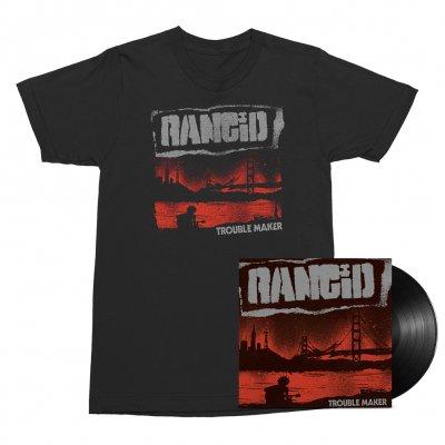 Rancid - Trouble Maker LP (Black)/Album Cover Tee (Black) Bundle