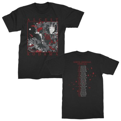 alcest - Kodama Eclosion Tour T-Shirt (Black)