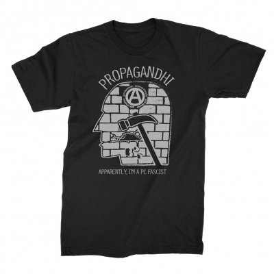 Propagandhi - PC Fascist Tee (Black)