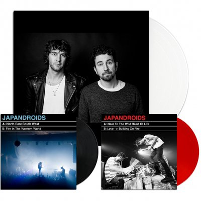 "japandroids - Near To The Wild Heart Of Life LP (White)/7"" + North East South West 7"" (Black) Bundle"