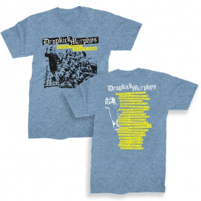 dropkick-murphys - Pain & Glory Album Tour Tee (Heather Blue)