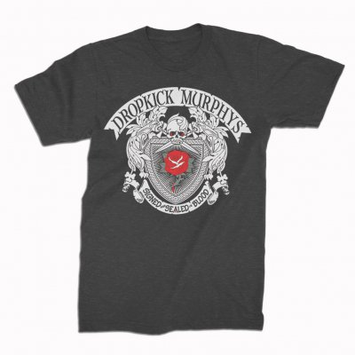 dropkick-murphys - Signed and Sealed In Blood Rose Tattoo Tee