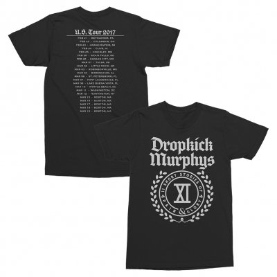 dropkick-murphys - Pain & Glory XI Womens Tour Tee (Black)