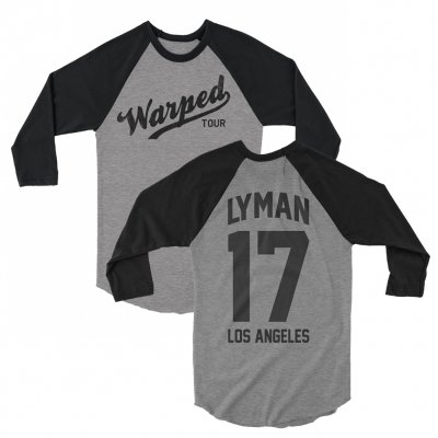 vans-warped-tour - VWT Custom Baseball Raglan (Grey)