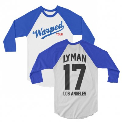 vans-warped-tour - VWT Custom Baseball Raglan (Royal Blue)