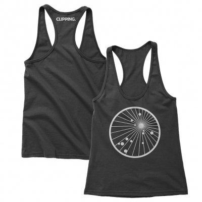 clipping - Splendor & Misery Racerback Tank (Heather Black)