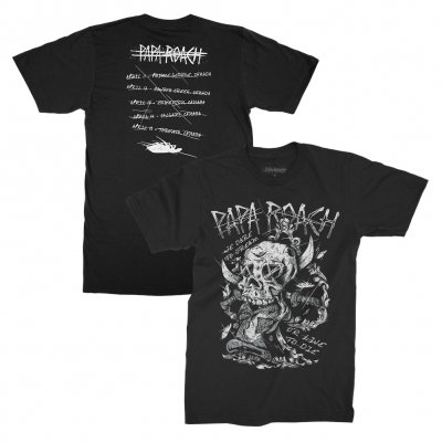 papa-roach - Dare Canadian Tour 2017 Tour T-Shirt (Black)