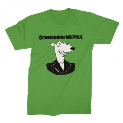 screeching-weasel - Weasel Head T-Shirt (Green)