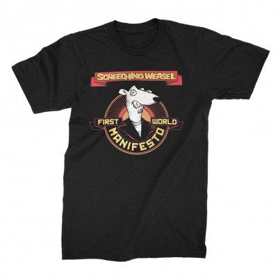 screeching-weasel - First World Manifesto T-Shirt (Black)