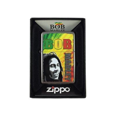 Bob Marley - B/W Face Zippo Lighter