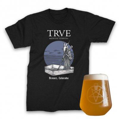 TRVE Brewing Company - Pintagram Rastal + Buried Sun Tee (Black) Bundle