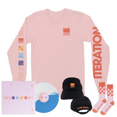 com-truise - Iteration 2xLP (Blue/White) + Long Sleeve T-Shirt (Pink) + Hat (Black) + Socks (Pink/Orange)