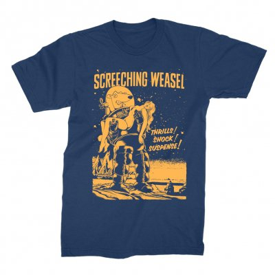 screeching-weasel - Forbidden Planet T-Shirt (Navy)