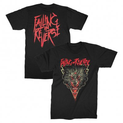 falling-in-reverse - Three Eyed Wolf T-shirt (Black)