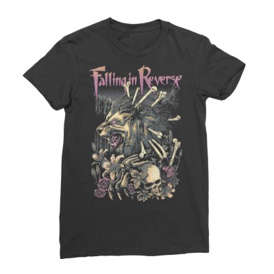 Falling In Reverse - Ladies Lycan Bones T-shirt (Black)