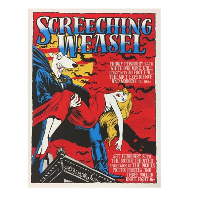 screeching-weasel - 2.24 Texas/ 2.25 Colorado Poster