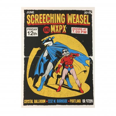 screeching-weasel - 6.12.15 Portland Poster