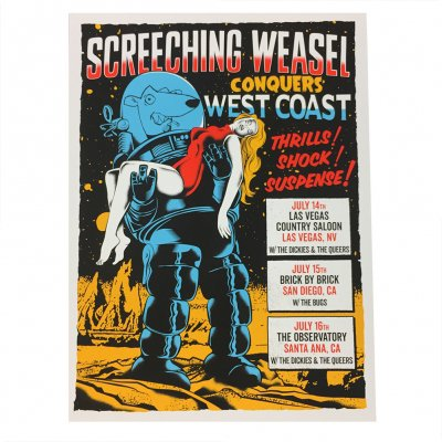 screeching-weasel - Conquers West Coast 7.14-16 Poster