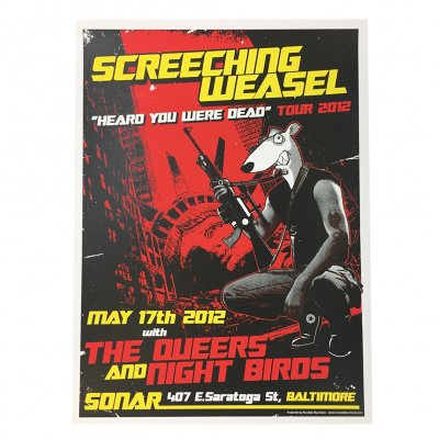 screeching-weasel - 5.17.12 Baltimore Poster