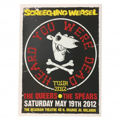 screeching-weasel - 5.19.12 Orlando Poster