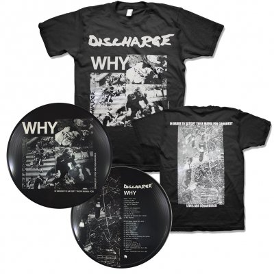discharge - Why LP (Pic Disc - Import) + Why T-Shirt (Black) Bundle