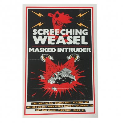 screeching-weasel - Weasel With Masked Intruder 5.4 - 5.6  Poster
