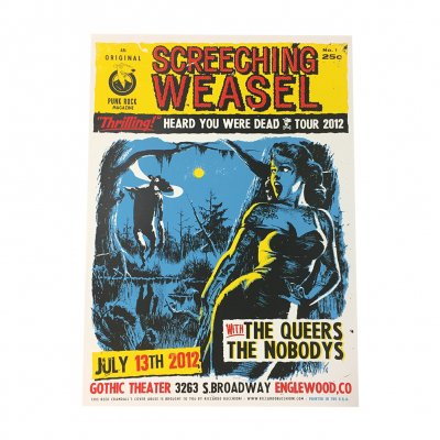 screeching-weasel - 7.13.12 Orlando Poster