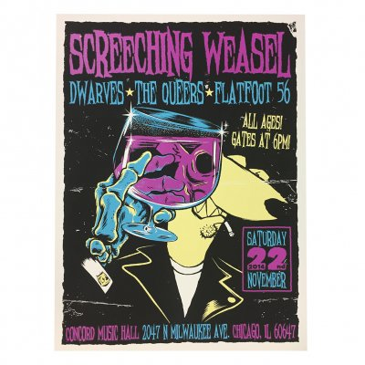 screeching-weasel - 11.22.14 Chicago Poster