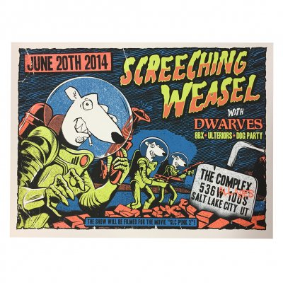 screeching-weasel - 6.20.14 Salt Lake City Poster