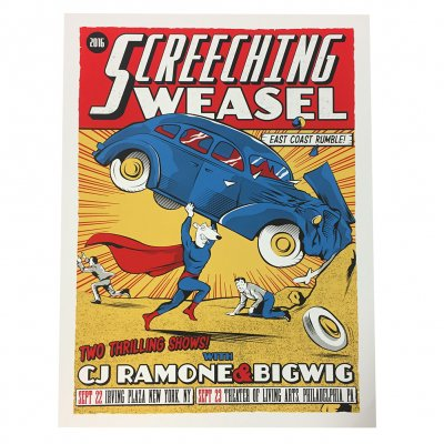 screeching-weasel - 9.22 - 23.16 New York/ Philadelphia Poster