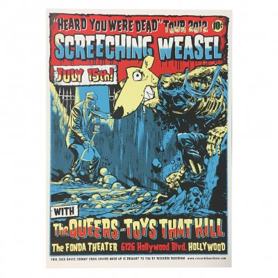 screeching-weasel - 7.15.12 Hollywood Poster