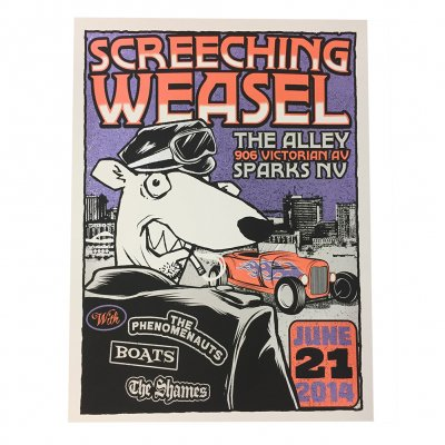 screeching-weasel - 6.21.14 Sparks Poster