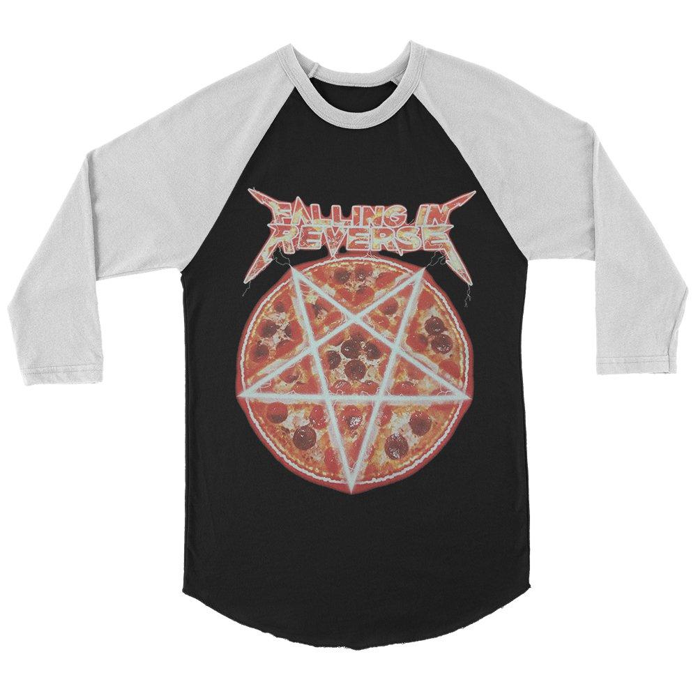 IMAGE | Pizza Raglan (Black/White)