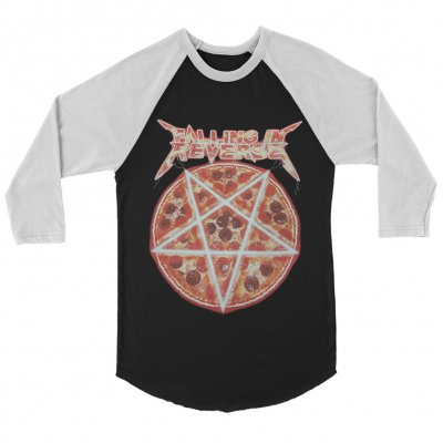 Pizza Raglan (Black/White)