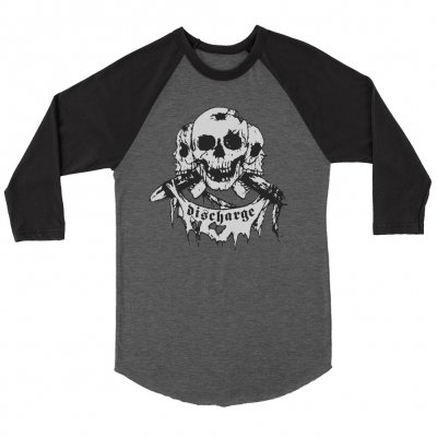 discharge - Born To Die Raglan (Heather/Black)