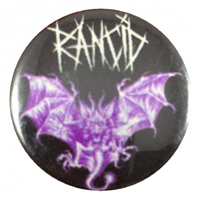 rancid - Purple Bat Button