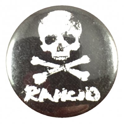 rancid - D-Skull Button