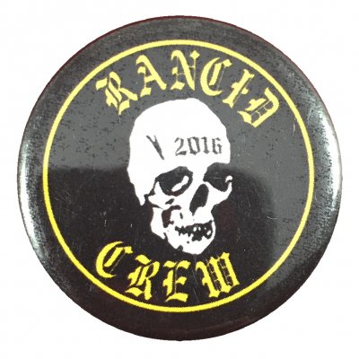 rancid - 2016 Skull Crew Big Button