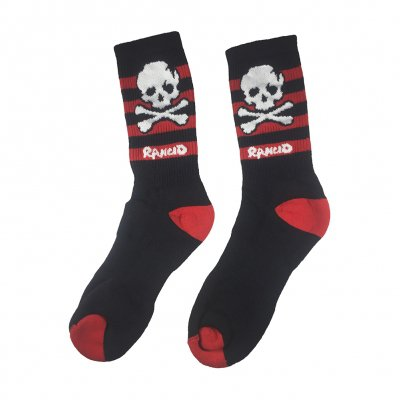 rancid - Skull Stripe Socks (Black/Red)