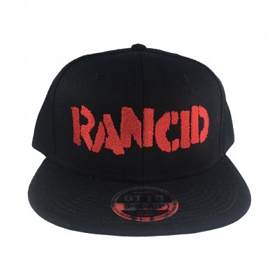 rancid - Stencil Logo Embroidered Snapback Hat (Black)