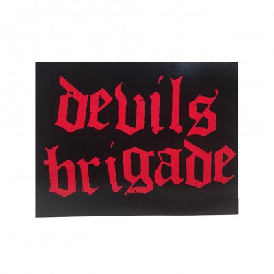 hellcat-records - Devil's Brigade Logo Sticker