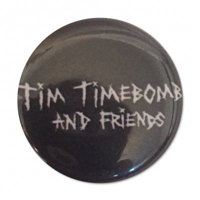 tim-timebomb - Logo Button (Black)
