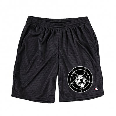 frank-iero - Sweet Pea Mesh Shorts (Black)