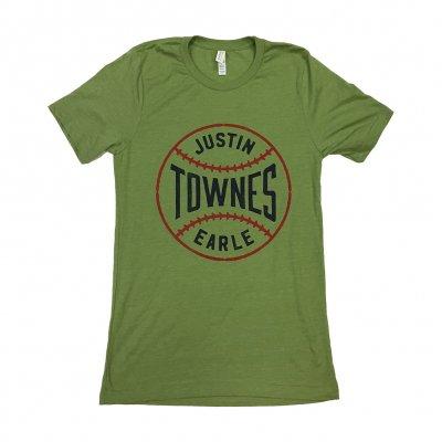justin-townes-earle - Baseball T-Shirt (Green)