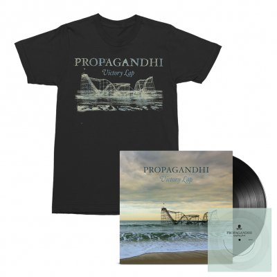 Propagandhi - Victory Lap LP (Black) + Flexi (Clear) + Victory Lap Album Tee (Black) Bundle