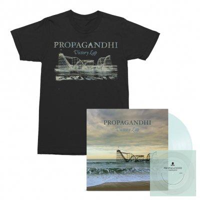 Propagandhi - Victory Lap LP (Clear) + Flexi (Clear) + Victory Lap Album Tee (Black) Bundle