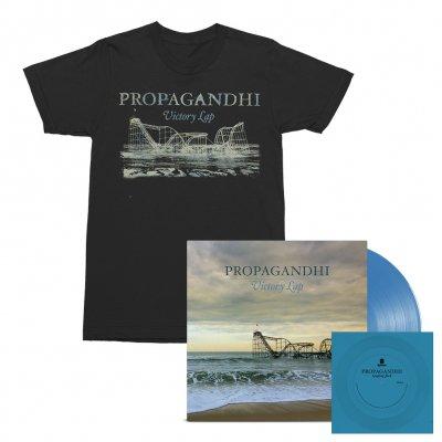 Propagandhi - Victory Lap LP (Blue) + Flexi (Blue) + Victory Lap Album Tee (Black) Bundle