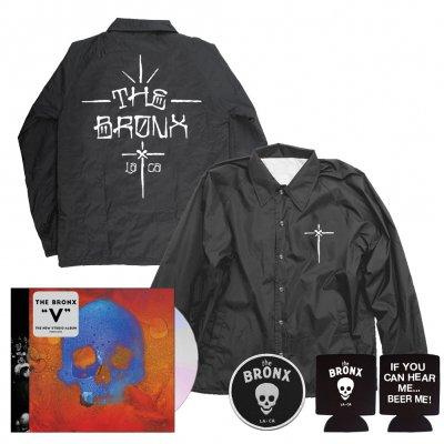 The Bronx - V CD + Graf Windbreaker (Black) + Skull Patch + Beer Me Coozie Bundle