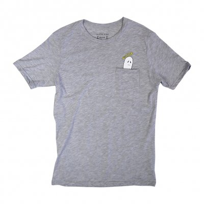frank-iero - Boozey Pocket T-Shirt (Heather Grey)