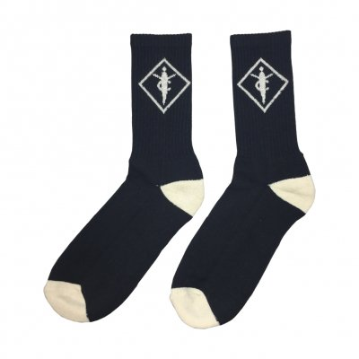 youth-code - Crest Logo Socks (Off White/Black)